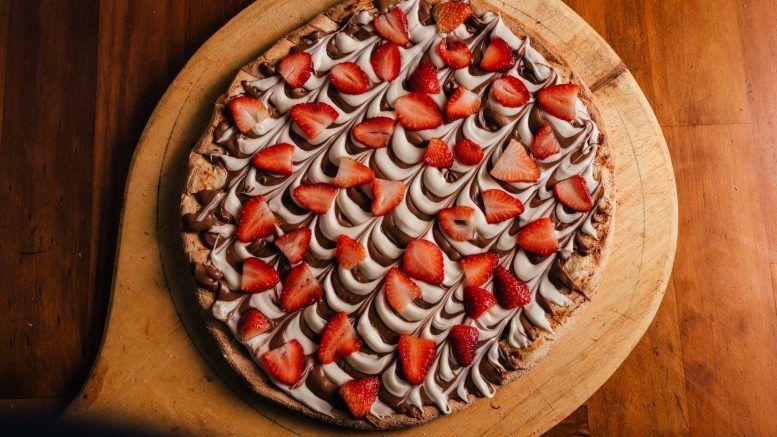 Receta de pizza de chocolate